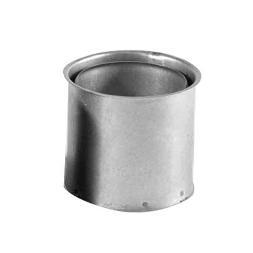 Kamino Flam Wandfutter doppelt in Silber, für Ofenrohre mit der Stärke 0,6 mm, Doppelwandfutter aus feueraluminiertem Stahl, geprüft nach Norm EN 1856-2, Durchmesser: ca. 120 mm
