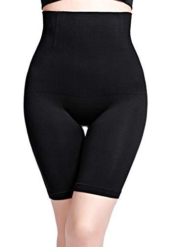 Icegrey Intimo Modellante da Donna Traspirante Confortevole Mutande Contenitive Controllo della Pancia A Vita Alta Shapewear,Nero,XL-2XL