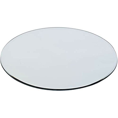 """WGV Quality Thick Round Mirror Plate Sets Bulk 10"""" Diameter, 4.5 mm Thickness, Frameless Sanded Egdes, Candle Tray Plate, Home Event Party Wedding Table Centerpiece Wall Decor, 12 Pieces"""