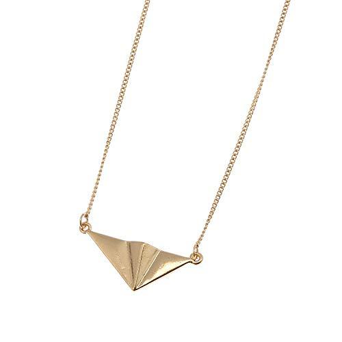 lonfenner Pullover Halskette,Design Extrem Kurze Tiermodell Diablo Joker Europäischen Und Amerikanischen Wind Metallring Pullover Halskette Golden