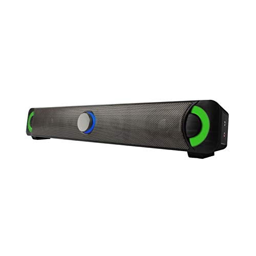 Sdesign テレビ、HDMI/オプティカル/AUX/USB入力、テレビ&ホームシアターのためのサラウンドサウンドシステムのための家庭用ワイヤレスBluetoothオーディオのカラフルなLEDコンピュータスピーカー10W Trebable Sound Blaster