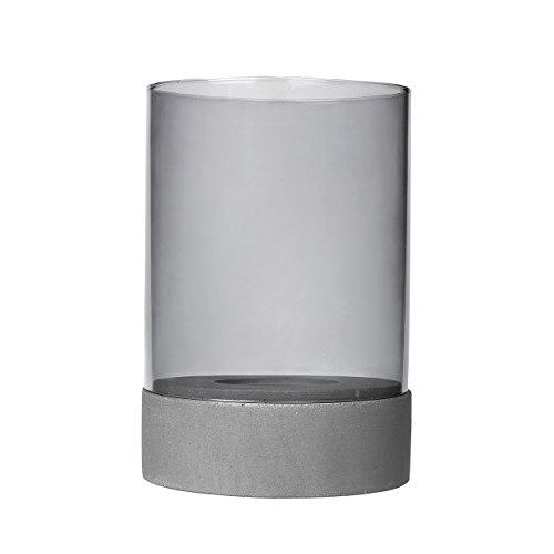 Blomus Windlicht-65587 Windlicht, Grau, H 24 cm, Ø 16 cm
