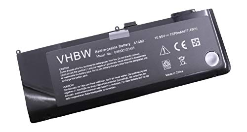 vhbw Li-Polymère Batterie 7070mAh (10.95V) Noir pour Ordinateur Portable Laptop Notebook Apple Macbook Pro 15\
