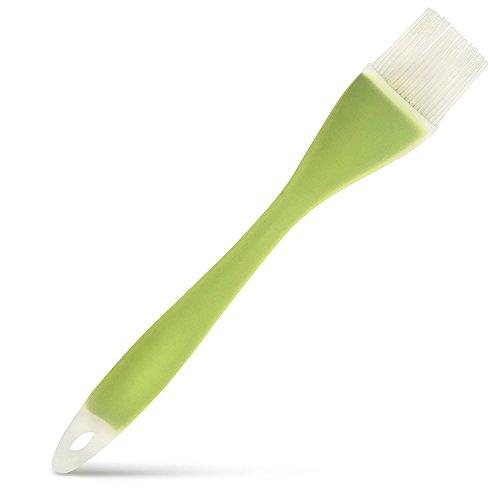 Silicone Basting brushes, spazzola, BBQ, Essential Cooking gadget da cucina in silicone resistente al calore, pennello per cucina, pasticceria e grigliare, verde