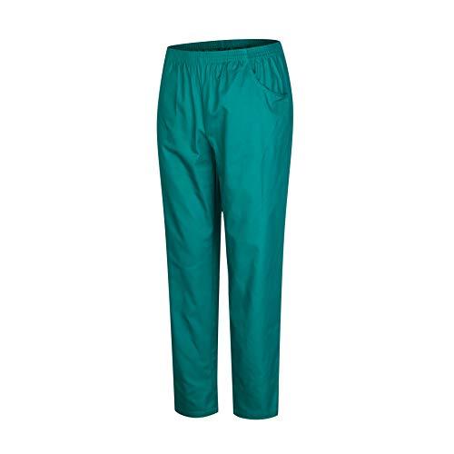 MISEMIYA - Pantaloni Unisex Vita Elastica Uniforme di Lavoro Clinica Ospedale Pulizia Veterinario IGIENE OSPITALITÀ - Ref.8312 - M, Verde