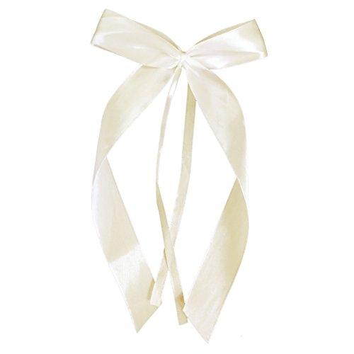 Miya® hochwertige Weis Antenneschleifen aus Satin, Auto Schleifen, Hochzeit Deko, Autoschmuck (50 Beige)