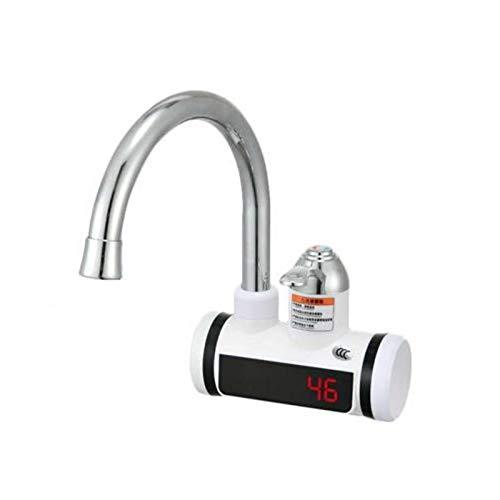 Nrkin Elektrische Warmwasserbereiter, 3000W LED Temperaturanzeige Elektrische Wasserhahn Heizung Wasserhahn, Durchlauferhitzer Sofortiger mit LCD-Temperaturanzeige für Küche Und Bad Instant Heißwass