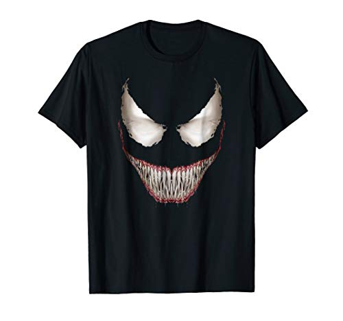 Marvel Venom Big Face Grin Halloween Costume Graphic T-Shirt