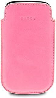 GIUDI ® - Portacellulare in pelle vitello, porta smartphone, vera pelle, Unisex, Made in Italy. (Fucsia)