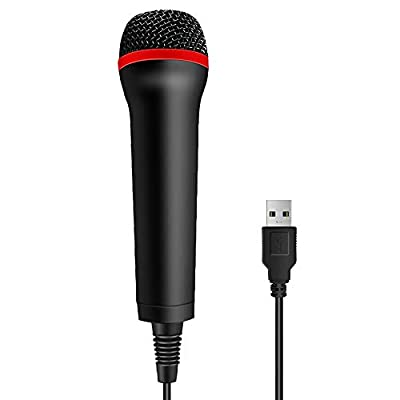 TPFOON 4M 13FT Wired USB Microphone for Rock Band, Guitar Hero, Let's Sing - Compatible with Sony PS2, PS3, PS4, Nintendo Switch, Wii, Wii U, Microsoft Xbox 360, Xbox One and PC from TPFOON