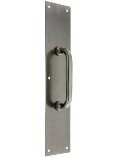 Deltana PPH55U15A Solid Brass Commercial 3 1/2' x 15' Door Pull with Back Plate in Antique Pewter