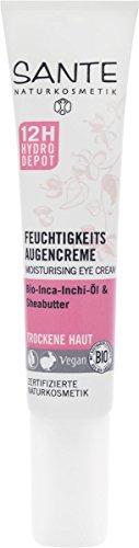 SANTE Naturkosmetik Feuchtigkeits Augencreme, Glättet Trockenheitsfältchen, 12h Hydro-Depot,...