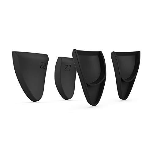KGDUYH 8 en 1 Pulgar Stick Grip Key Caps Joystick Cover L2 R2 Trigger Extender para Sony Playstation 5 PS5 Accesorios electrónicos de máquina fácil de usar (color: negro)
