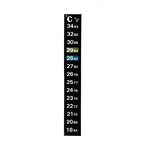 siwetg 1pc Digital Acuario Tanque Peces Termómetro Termómetro Temperatura Pegatina Doble Escala de Cristal Líquido Cambio de Color Tanque de Peces Termómetro Digital Pantalla