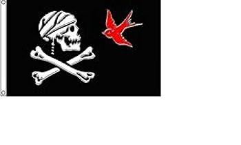 Pirate Jack Sparrow Flag 3x5 Jolly Roger Ship Banner Skull Crossbones