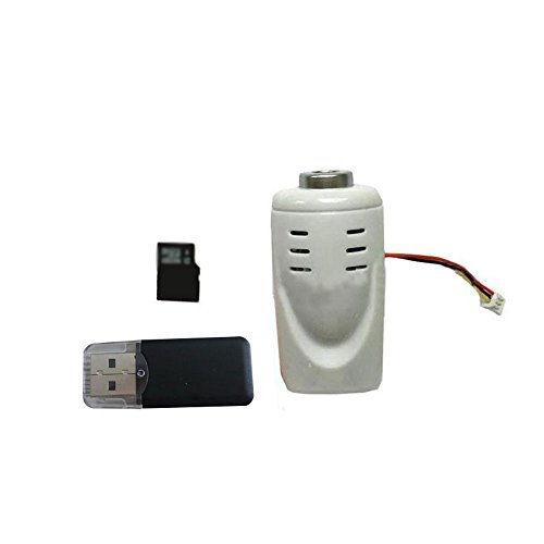 Hanbaili Syma x5c x5sc x5c-1 5 megapíxeles 1080P HD Camera Set con 4 GB de tarjeta SD y lector de tarjetas Accesorios para SYMA X5C X5 X5HW control remoto Drone Quadcopter Upgrade Repuestos (blanca) c