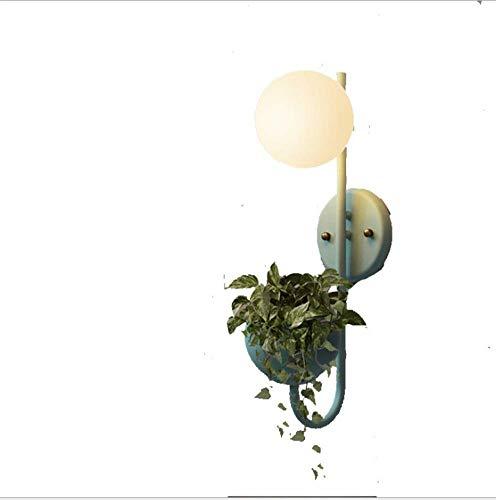 G9 Ball wandlamp luifel van Macaron wandlamp slaapkamer restaurant café wandlamp met plaat in bolvorm, warmwit licht