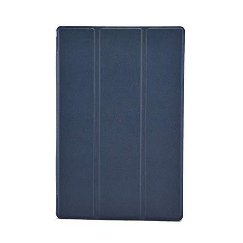 Hannuo Funda de Cuero PU con Soporte Plegable Inteligente ultradelgada para Sony Xperia Z2 Tablet 10.1 Funda Protectora para Tableta Sony Xperia Z2-Azul Oscuro