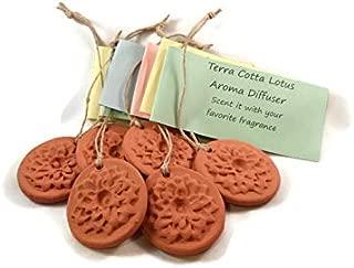 6 Open Lotus Pendant Style Terra Cotta Essential Oil Aroma Diffusers