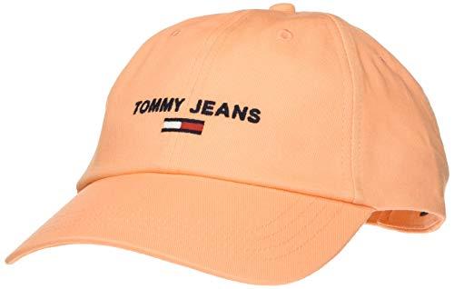 Tommy Jeans Damen Tjw Sport Baseball Cap, Orange (Canteloupe Saq), One size (Herstellergröße: OS)