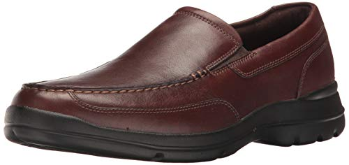 Rockport mens Junction Point Slip on Oxford, Chocolate, 10 US
