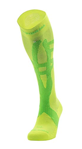 Enforma Socks Unisex Enforma Tibial Stress Tape Socken, Gelb, Grün, 42-44