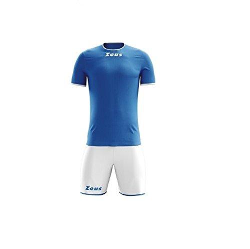 Zeus Kit Sticker Royal - Bianco Completino Completo Calcio Calcetto Muta Torneo Scuola Sport