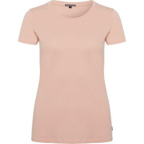 Chiemsee Damen T-Shirt, mit Logoprint auf Dem Rücken, orange (415 Apricot Blush), S