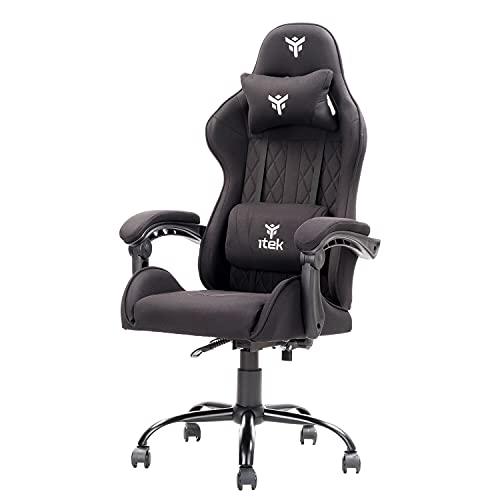 Itek Gaming Chair Rhombus FF10, Tejido, Negro, Normale
