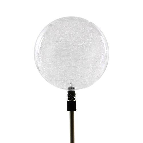 Solarlampe Kugel Gartenbeleuchtung LED Farbwechsel 80 cm 3farbig Akku Kunststoff Edelstahl Außenbeleuchtung Solar Garten