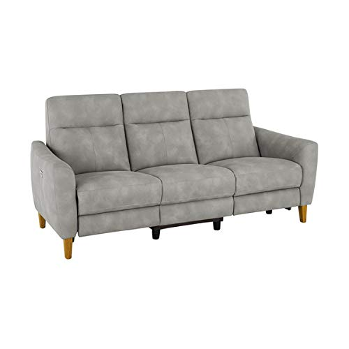 Oak Furniture Land Dylan 3 Seater Electric Recliner Sofa in Oxford Grey Fabric