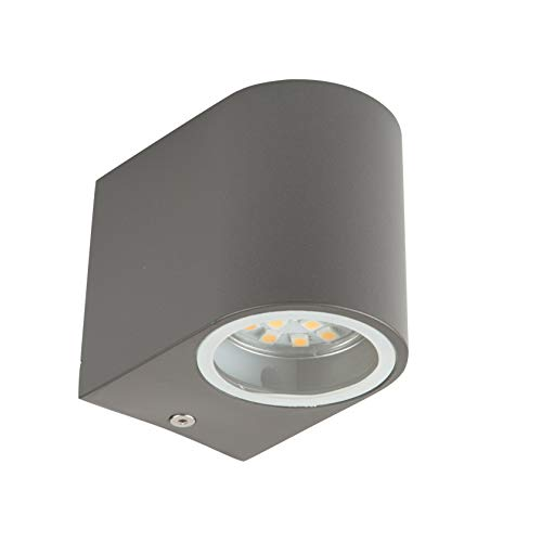Smartwares 5000.332 Bastia aplique de pared - LED - Aluminio