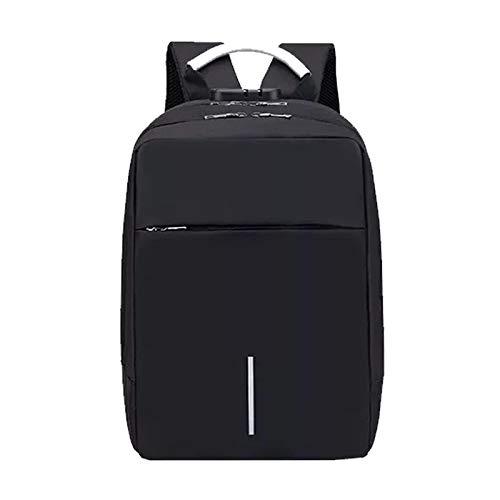 Modische Schultasche robuste Laptoptasche Laptop Rucksack Männer USB Aufladen 15,6 Zoll Computer Notebook Diebstahlsiche