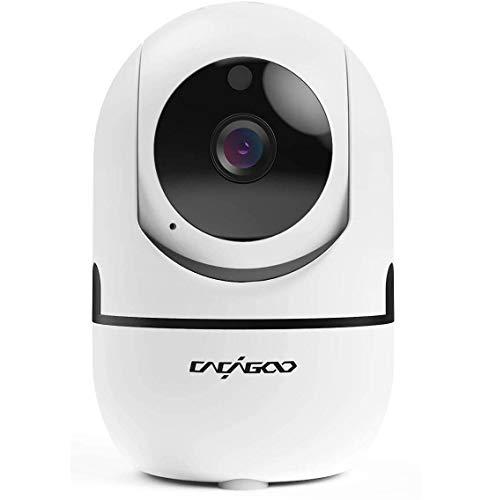 ÜberwachungsKamera innen wlan handy, CACAGOO 1080P WLAN IP Kamera Babyphone mit 2 Wege Audio