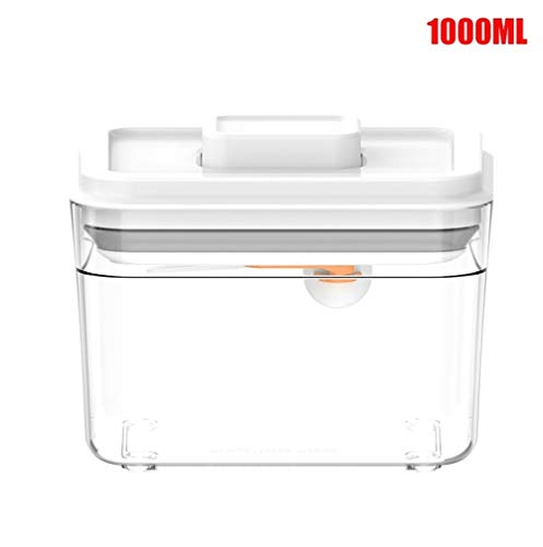 Luchtdicht Multifunctionele keukenmachine Container afgesloten doorzichtige Storage Box for Kitchen DIN889 (Color : White)