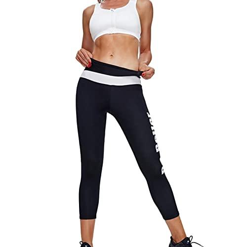 Hhwei Pantalones de Sauna Mujer Leggins Reductores Adelgazantes Deporte Yoga Cintura Alta Pantalones