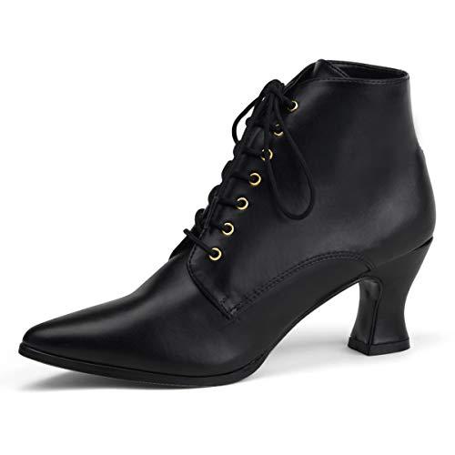 Higher-Heels Funtasma Renaissance-Schuhe Victorian-35 Mattschwarz Gr. 39