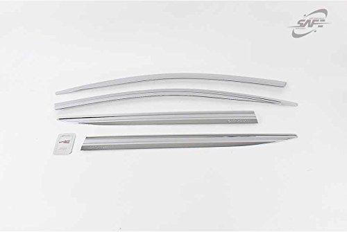 Preisvergleich Produktbild SAFE Windabweiser / Windabweiser für Fenster,  verchromt,  4P D-218