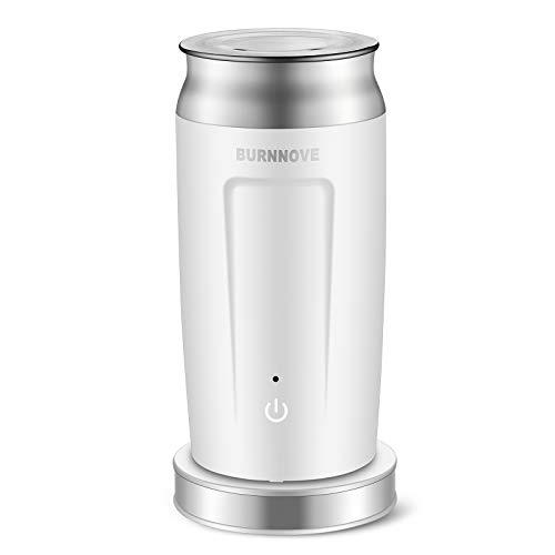 4 in 1 Automatische Milchaufschäumer 500W Edelstahl Elektrische Milchschäumer 240ml für Kalten und Heißen Milchschaum oder Erhitzen Antihaftbeschichtung Geeignet für Milch Kaffee Cappuccino usw