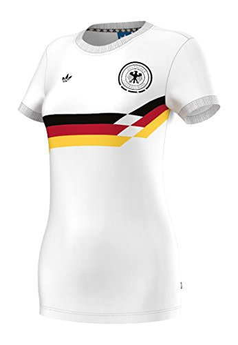 Adidas T-Shirt Women Germany Tee S95507 Weiß, Size:36