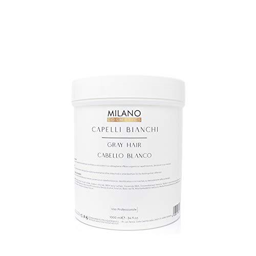 Milano Champú Gray Hair Cabello Blanco 1000 ml Champú profesional sin sulfatos ni parabeno diseñado para matizar y potenciar el pelo blanco, gris, decolorado o con mechas.