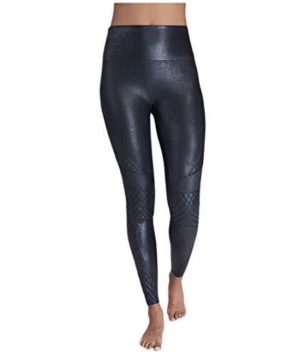Spanx Damen, Faux Leather Shaping-Leggings in Leder-Optik, 20248R, Very Black, Größe S