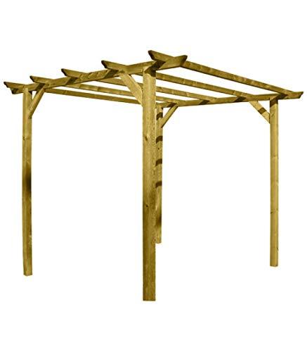 Papillon 8044805 Pergola en bois 4 poteaux 3 x 3 m