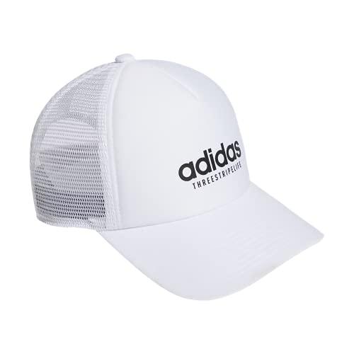 adidas Gorra para Mujer Core Trucker, Mujer, Sombrero, 978033, Blanco/Blanco, Talla única