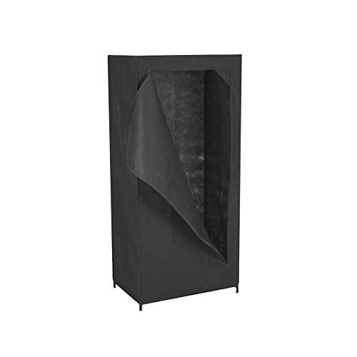 OSE Armoire de Rangement Dressing 1 Porte - Noir - 150 cm