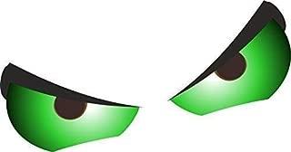 Verde Std Coppia Evil Eyes Motivo per Casco da Moto Ecc Vinilico Stile Rat Adesivo Auto Sticker Bomb 55x40mm Cadauno Ca