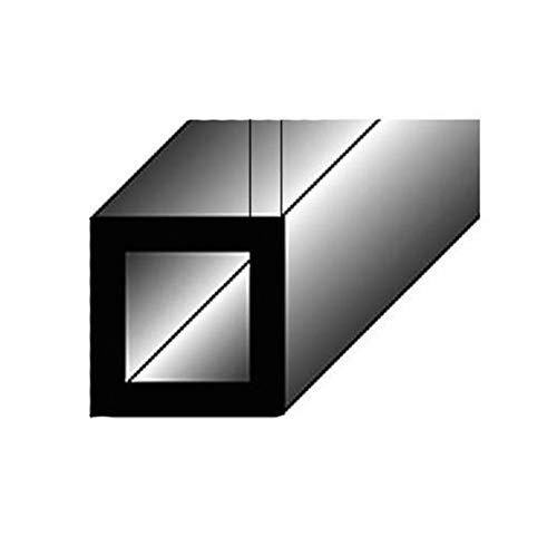 1 mètre Tube carré / Profilé de montage, 20 x 20 x 2 mm, en aluminium
