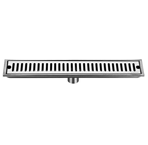 DBXOKK Edelstahl Dusche Bodenablauf Küche Waschbecken Wasser Sieb Abdeckung Haar Catcher Duschfalle Filter Drainage Gully(60cm)