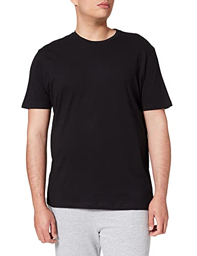 Springfield Camiseta básica Logo Camisa, Negro, M para Hombre
