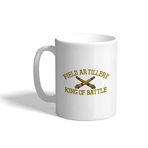 Custom Coffee Mug 11 Ounces Us Army Field Artillery B Military Ceramic Tea Cup Design Only
